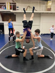 Gymnastic in PE with Mr. Foughty