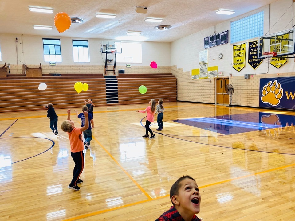 Elementary PE with Balloons