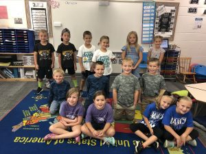 First Grade on Twin Day