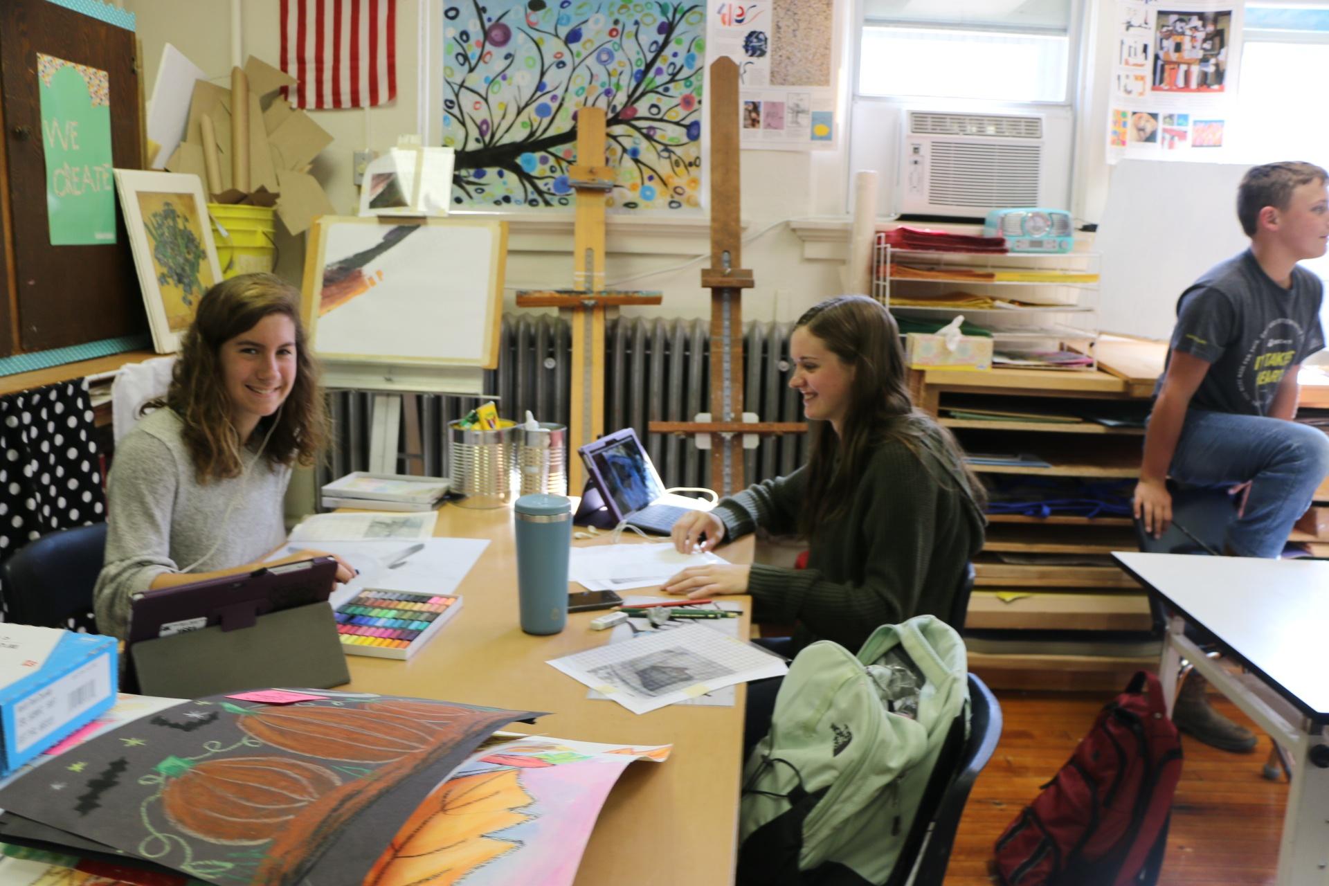 High School Art Kara Fehr and Jenna Montag