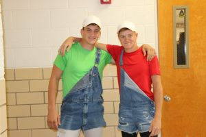 Lane Schmidt and Levi Mogler on Twin Day