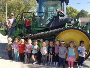 Preschool Class with Tractor